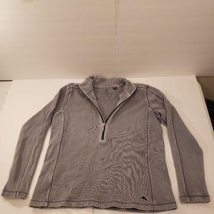 Tommy Bahama 1/2 Zip Grey Sweater Mens Medium